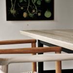 Matbord svart vitpigmenterad ek 2